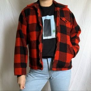 Red and black flannel jacket